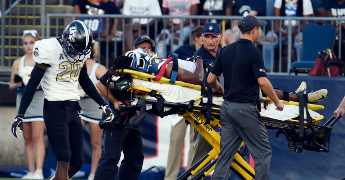 "UCF Player Expected to be ""OK"" After Scary Opening Kickoff Injury"