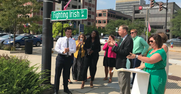 South Bend Temporarily Renames Michigan Street Ahead of Rivalry Game