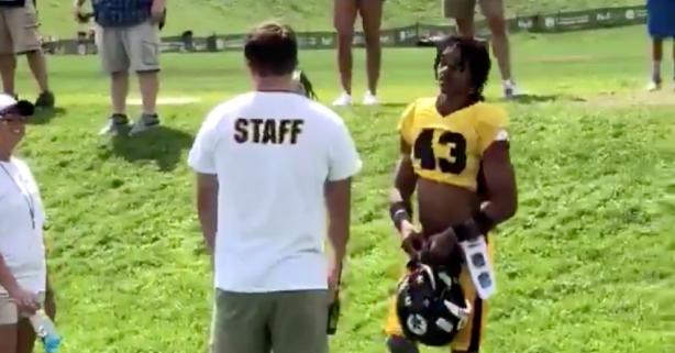 "Random Guy Sneaks Into Steelers Practice Wanting to ""Check"" Antonio Brown"
