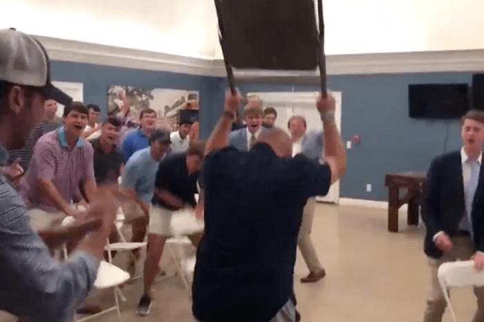 Georgia Southern Football Coach Gets Fraternity Hype with WWE Chair Slams