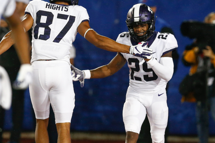 Speedy KaVontae Turpin Breaks Special TCU Record in Rainy Rout