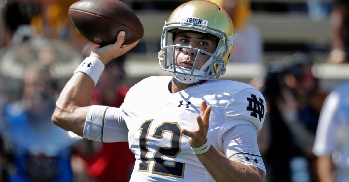 Backup QB Delivers 5 Touchdowns as No. 8 Notre Dame Tops Wake Forest