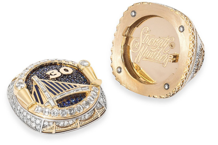 Golden State Warriors Flaunt Rare Reversible Rings to Celebrate Title