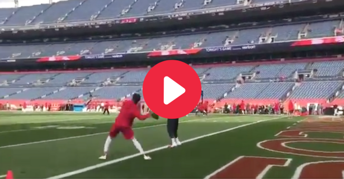 Just Patrick Mahomes Casually Throwing a 90-Yard Bomb