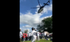 Penn State tailgate helicopter