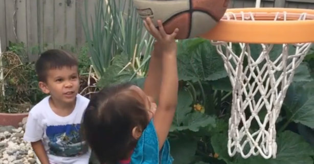 After She Took a Basketball to the Face, Her Big Brother Saved the Day