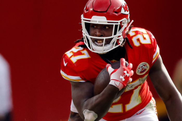 Chiefs Star RB Caught on Video Brutally Attacking, Kicking a Woman