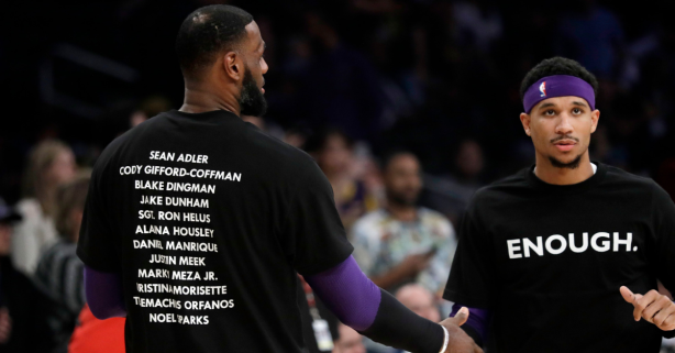 NBA Players Stand Tall Against Gun Violence, Honor Shooting Victims