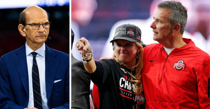 Urban Meyer's Wife Snapped on Paul Finebaum, Then Deleted Criticism