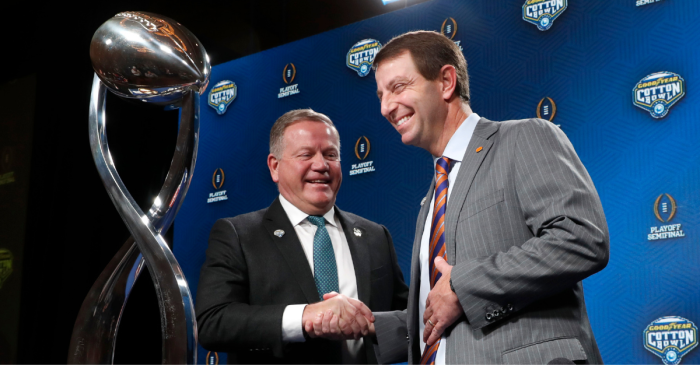 There's 1 Thing Brian Kelly Will Never Beat Dabo Swinney At