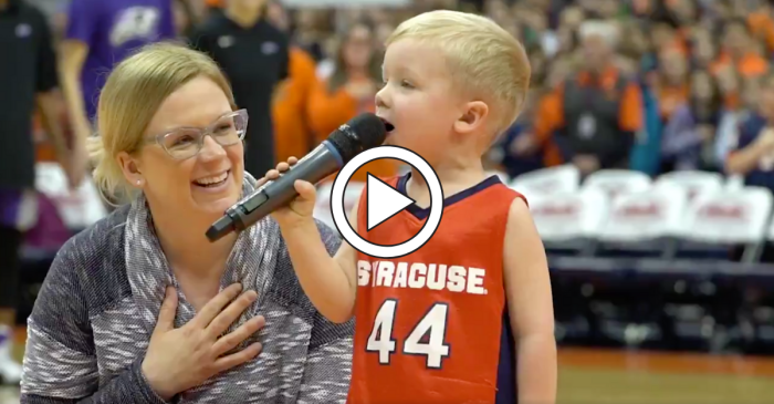 3-Year-Old Boy Crushes National Anthem Performance