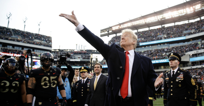 President Trump Watches Army Sing Last After Big Win Over Navy