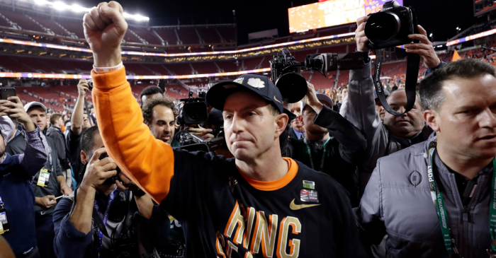 Dabo Swinney's Postseason Bonus Checks Could Buy Him a Mansion