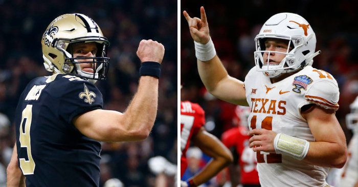 Drew Brees and Sam Ehlinger Aren't Just Star QBs. They're the Pride of Austin, Texas