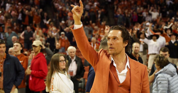 No One Loves Texas Like Matthew McConaughey and His Orange Suit