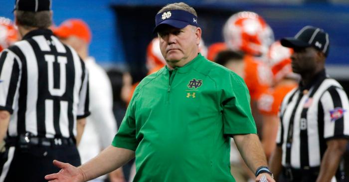 Notre Dame's Brian Kelly Trolls Michigan Football With Hockey Game Jab