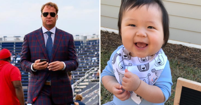 Lane Kiffin Offers 6-Month-Old Baby Boy a College Football Scholarship