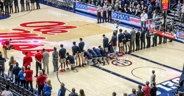 Ole Miss Players Kneel During Anthem to Protest Confederate Rally