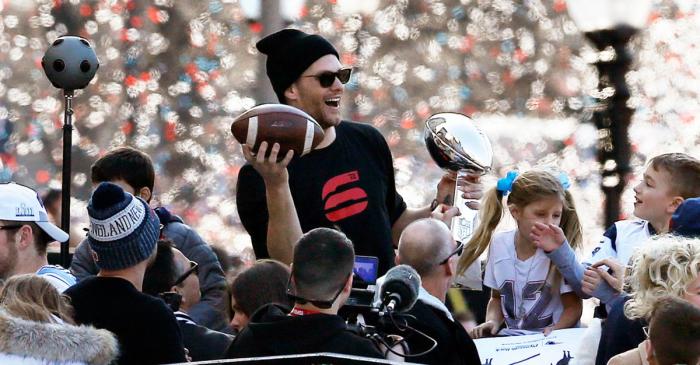 "Patriots Fans Chant ""We Want Seven!"" While Celebrating Title No. 6"