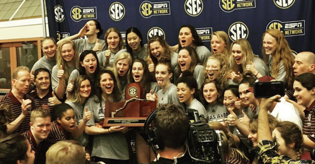 4-PEAT! Texas A&M Women's Swim Team Complete Rarest Feat in Sports