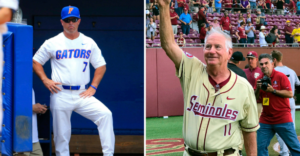 Florida Honors Legendary FSU Coach's Retirement, Then Pours on 20 Runs