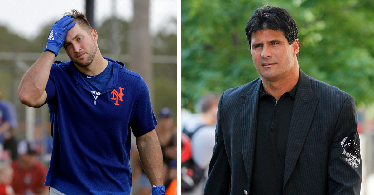 Tim Tebow, Jose Canseco