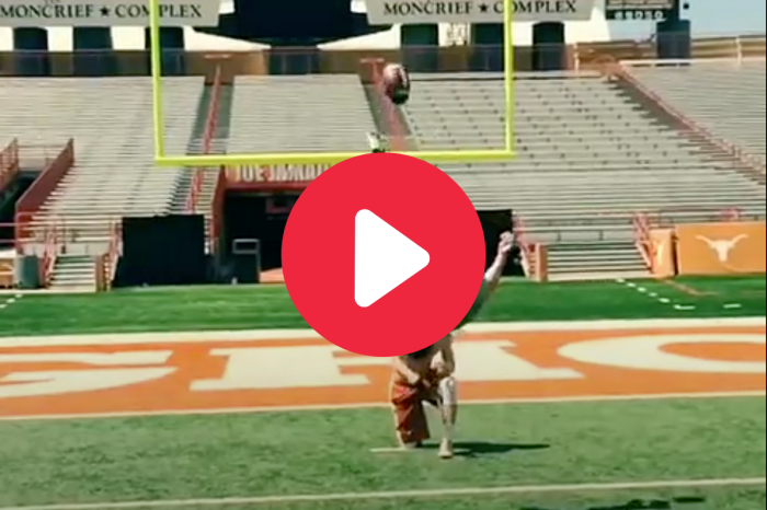 College Kicker Drills Backflip Field Goal With Ease