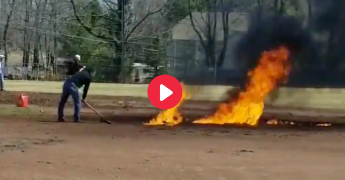 "Someone Dumped Gasoline on a Baseball Field to ""Dry It Faster"""