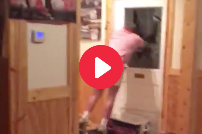 Guy Dives Through Glass Window, Proving College Football Fans Are Nuts