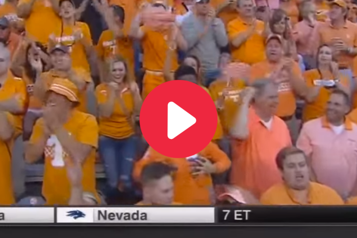 "Tennessee Fan Caught ""Getting Lucky"" in the Stands"