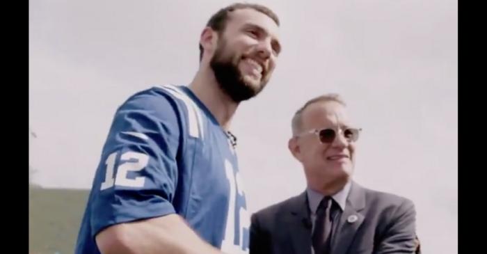 Watch What Happens When Tom Hanks Meets Andrew Luck