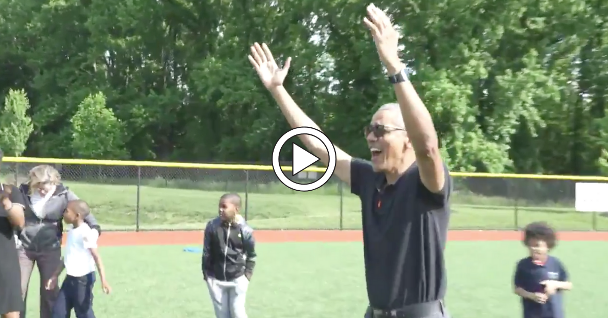 WATCH: President Obama Throws Touchdowns, Hits Doubles at DC Youth Academy