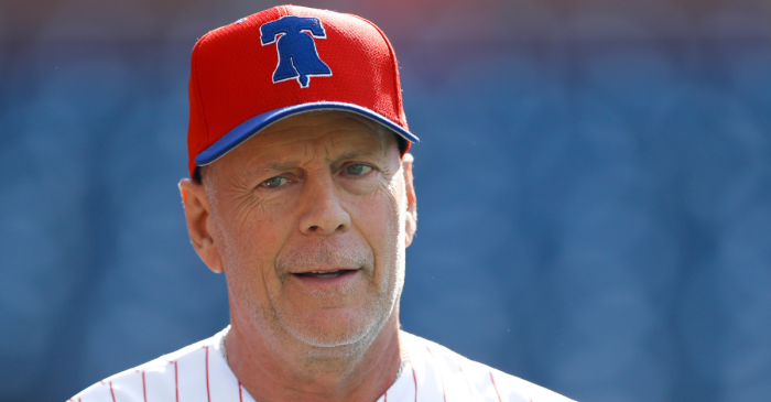 Bruce Willis Gets Booed By Phillies Fans After Throwing First Pitch
