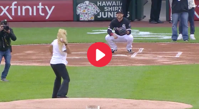 Woman Beans Cameraman with Worst First Pitch in History