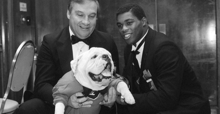 Uga Joined Herschel Walker at 1982 Heisman Trophy Ceremony