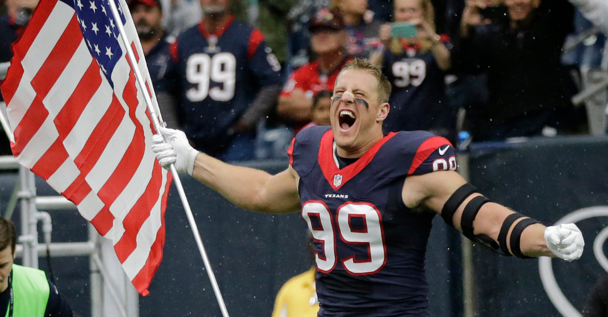 J.J. Watt Honors Grandpa on Veterans Day with Military-Themed Shoes