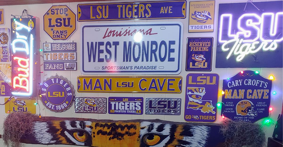 This LSU Man Cave is a Sanctuary for Real Tigers Only