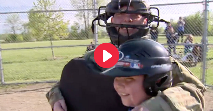 WATCH: Soldier Comes Home to Surprise Son at His Baseball Game