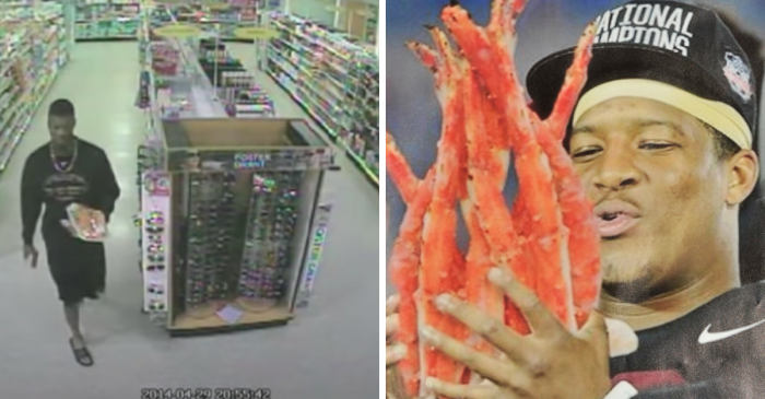 "Jameis Winston ""Stealing"" Crab Legs Will Never Stop Being Weird"