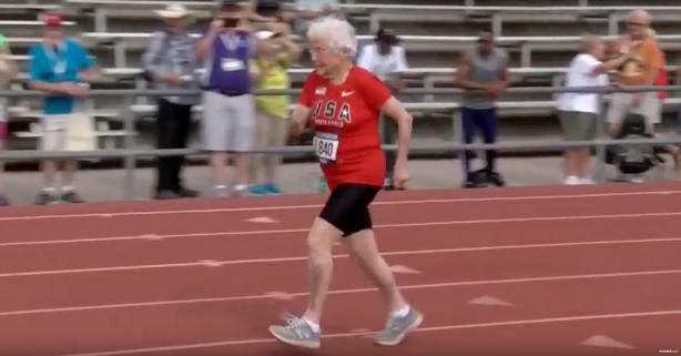 "103-Year-Old Julia ""Hurricane"" Hawkins Sets Sprinting World Record"