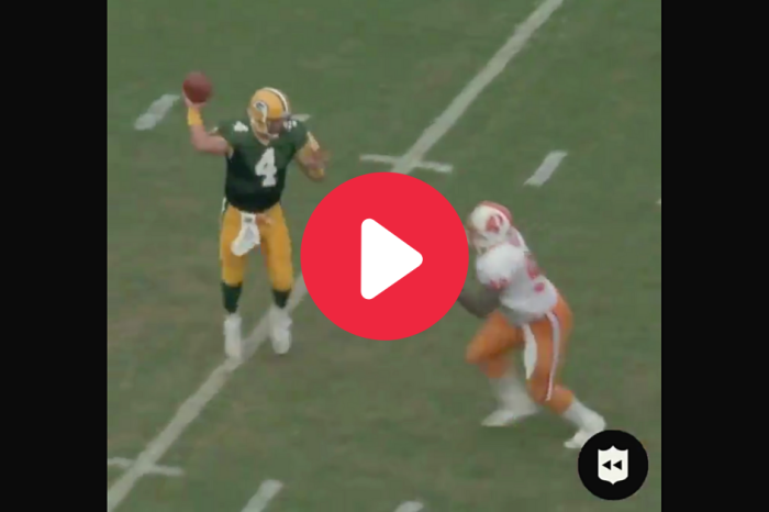 Brett Favre's First Completion Perfectly Defines His Career