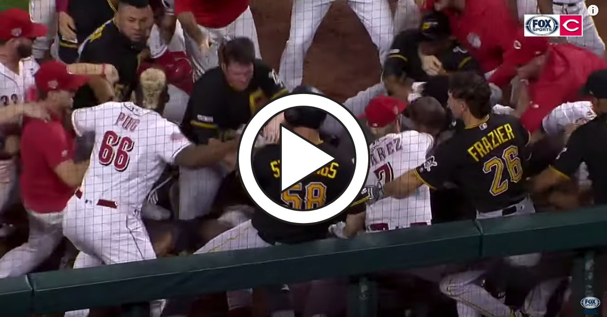 WATCH: Nasty Bench-Clearing Brawl Erupts, Game Ends with 8 Ejections