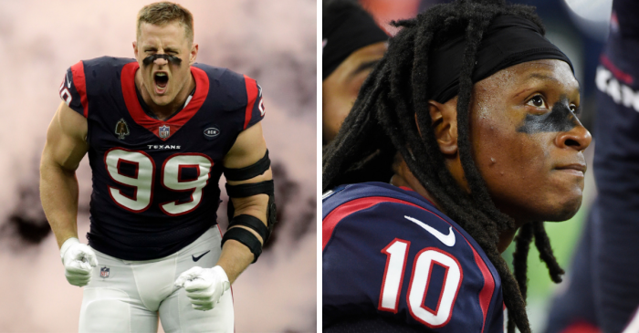 Houston's Watt, Hopkins Placed on Physically Unable to Perform List