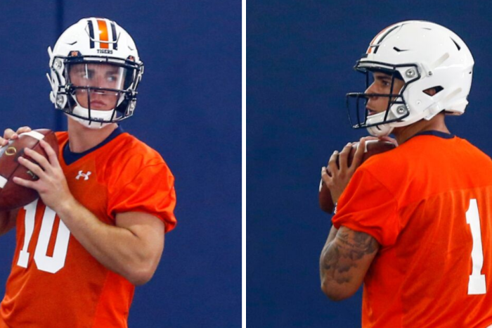 Watch Auburn's Bo Nix and Joey Gatewood Battle During Target Practice