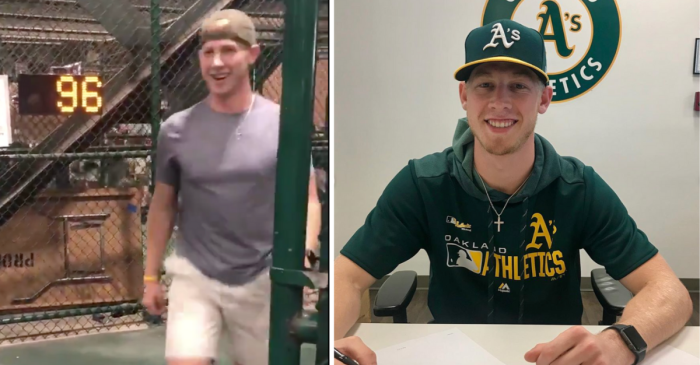 Regular Guy Threw 96 MPH at Stadium Game. Now, He's a MLB Player