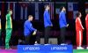 US Fencer Takes Knee