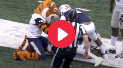 Mascot Earns Hilarious Penalty for Breaking Up TD Pass Play