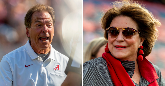 Nick Saban Lost His Cool, And Miss Terry Made Him Run