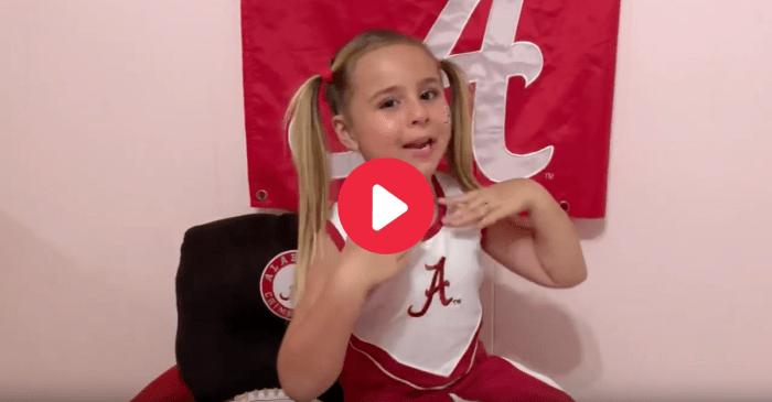 Adorable Alabama Girl is the Crimson Tide's Biggest Fan