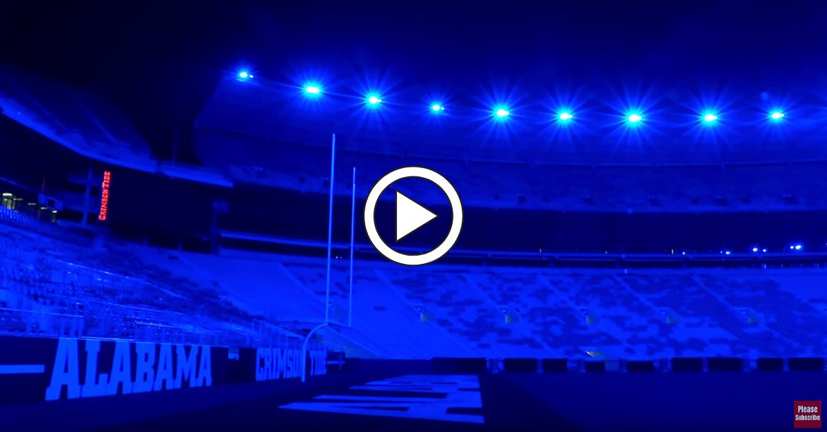 Alabama's Bryant-Denny Stadium Turns Blue, Honoring Slain Policeman